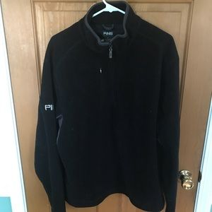 Ping men's black half zippered fleece